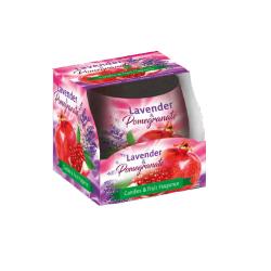 Sviečka-Levanduľa granátové jablko