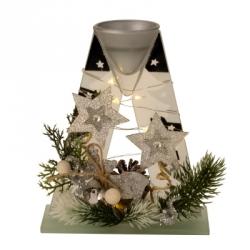 Vianočná dekorácia - svietnik
