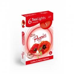 Čajová sviečka 6ks Poppies