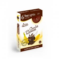 Čajová sviečka 6ks Chocolate Banana