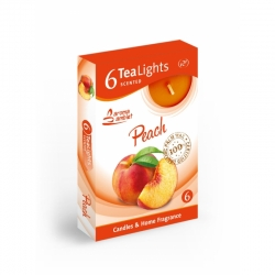 Čajová sviečka 6ks Peach