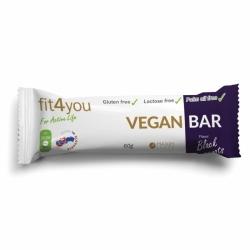 Bielkovinová vegánska tyčinka - 60 g - čierna ríbezľa
