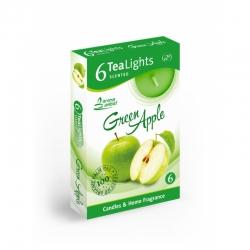 Čajová sviečka 6ks Green Apple